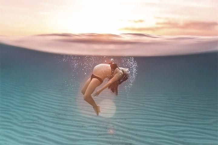 Increíbles  Fotografías de embarazo bajo el agua.