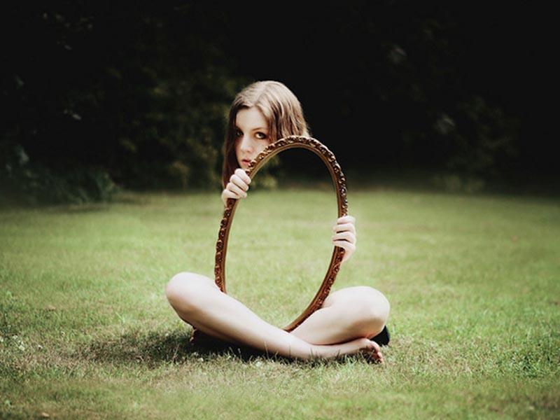 Fotografía de autorretratos creativos