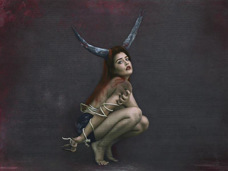 Autorretratos de la fotógrafa Mexicana surrealista Krishna VR