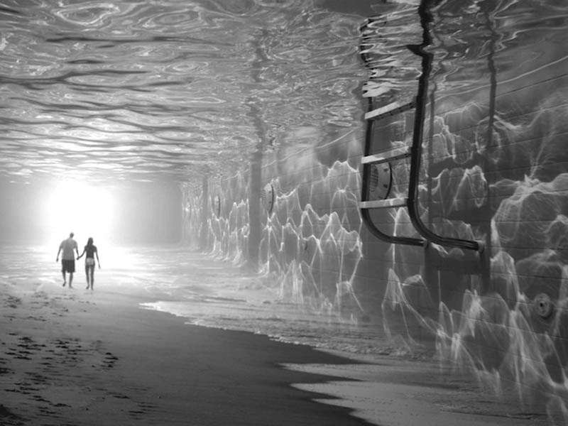 Fotomontajes surrealistas en blanco y negro de Thomás Barbey