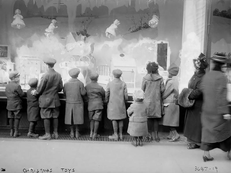 Nostálgicas fotografías de la vieja Navidad en Nueva York